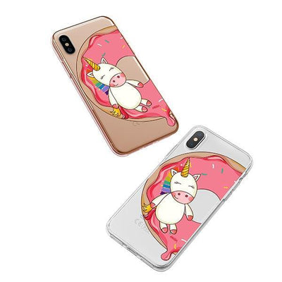 Unicorn Sprinkles iPhone XS Case Clear