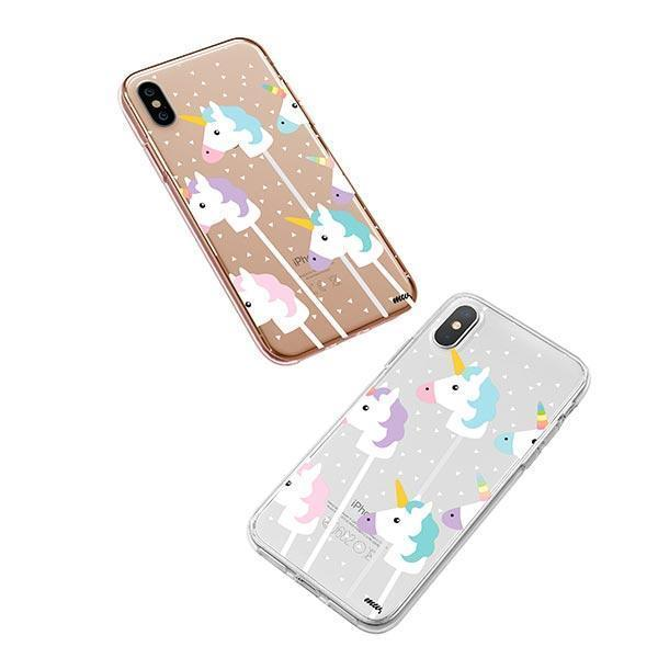 Unicorn Pops iPhone XS Case Clear