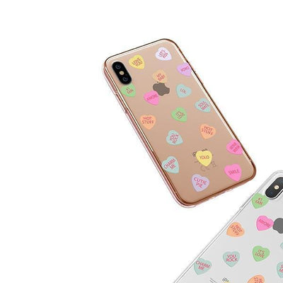Valentines Candy iPhone XS Case Clear