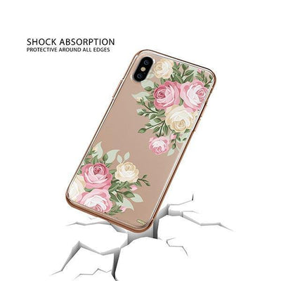 Vintage Roses iPhone XS Case Clear