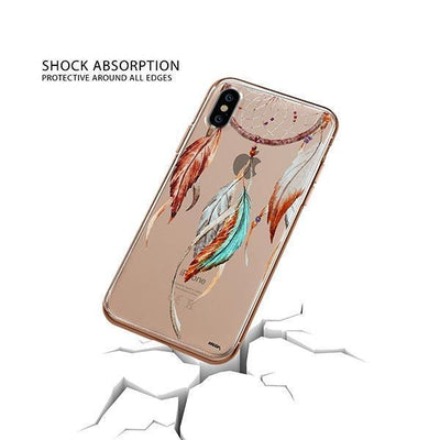Watercolor Dreamcatcher iPhone XS Case Clear