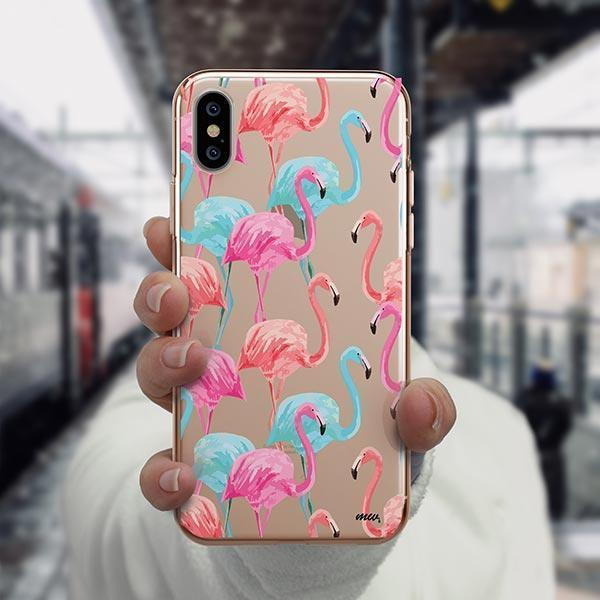 Watercolor Flamingo - iPhone XS Case Clear