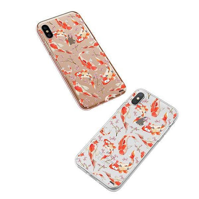 Watercolor Koi Fish - iPhone XS Case Clear