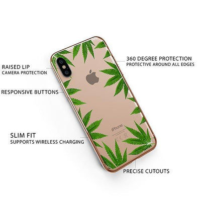 Weed Frame iPhone XS Case Clear