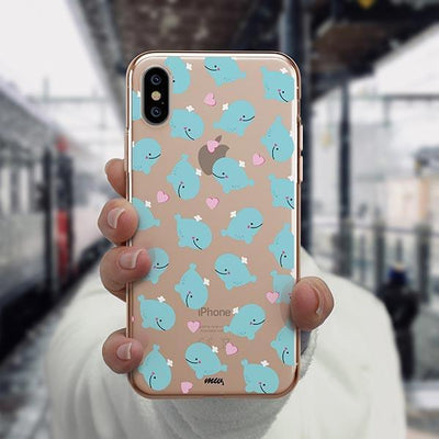 Whale Tale - iPhone XS Case Clear