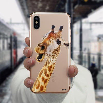 Whoa Giraffe - iPhone XS Case Clear