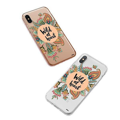 Wild At Heart iPhone XS Case Clear