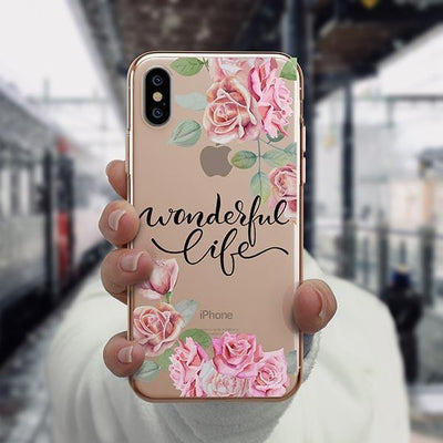 Wonderful Life iPhone XS Case Clear