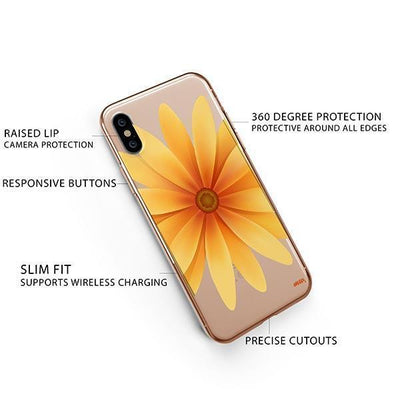 Yellow Daisy iPhone XS Case Clear