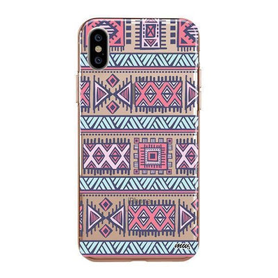 Colored Aztec iPhone XS Case Clear