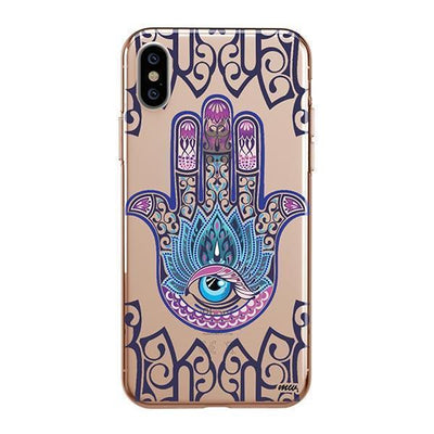Colored Hamsa iPhone XS Case Clear