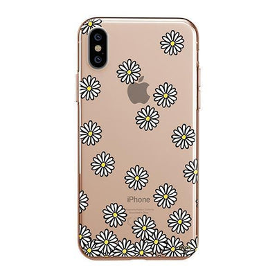Falling Daisies iPhone XS Case Clear