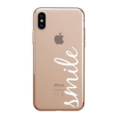 Smile Quote iPhone XS Case Clear
