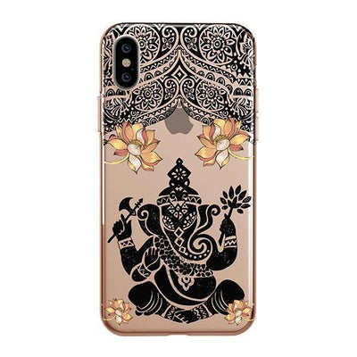 Lotus Ganapati Ganesh iPhone XS Case Clear