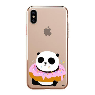 Pandonut iPhone XS Case Clear