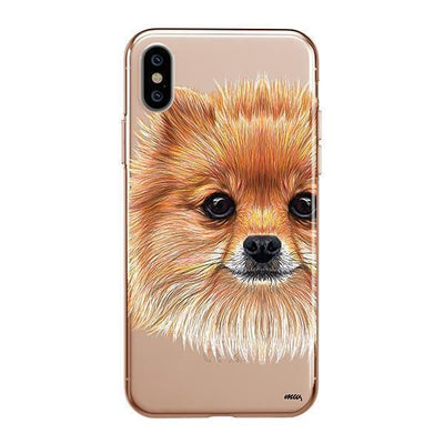 Pomsky Puppy - iPhone XS Clear Case