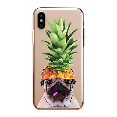 Pineapple Pug - iPhone XS Clear Case