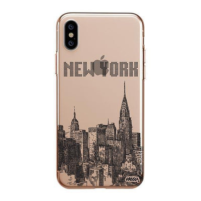 The Big Apple iPhone XS Case Clear