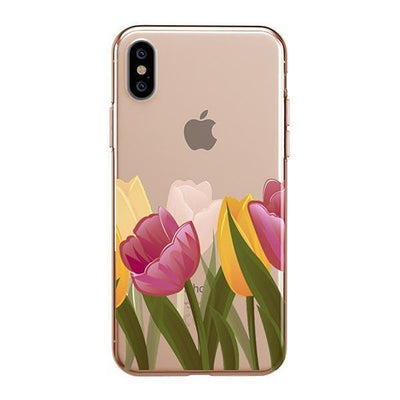 Tulips iPhone XS Case Clear