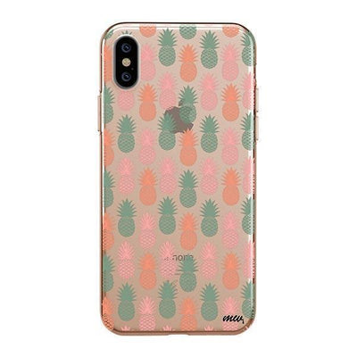 Vintage Pineapple iPhone XS Case Clear
