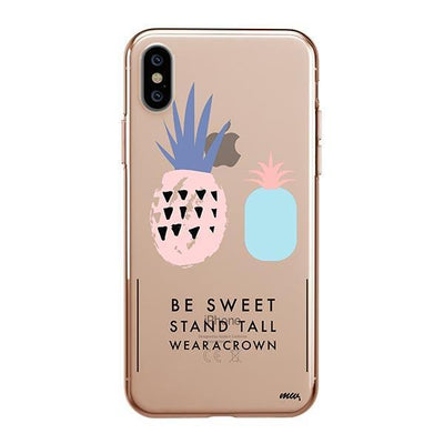 Wear A Crown iPhone XS Case Clear
