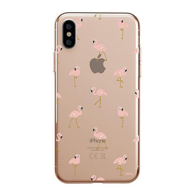Chillin Flamingo - iPhone XS Case Clear