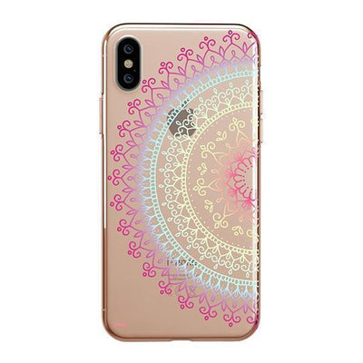 Cotton Candy Mandala iPhone XS Case Clear