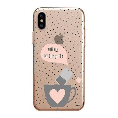 Cup of Tea iPhone XS Case Clear