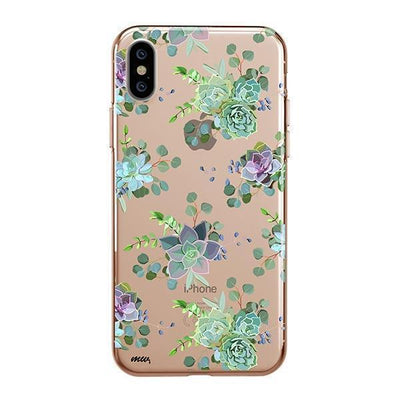 Echeveria iPhone XS Case Clear