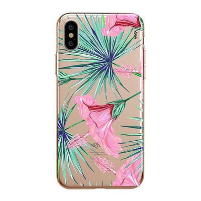 Exotic Hibuscus iPhone XS Case Clear