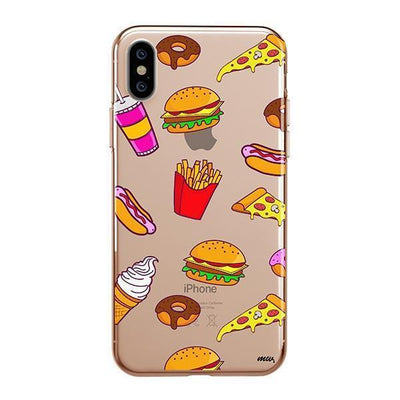 Fast Food iPhone XS Case Clear