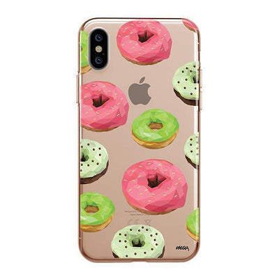 Geometric Donut iPhone XS Case Clear