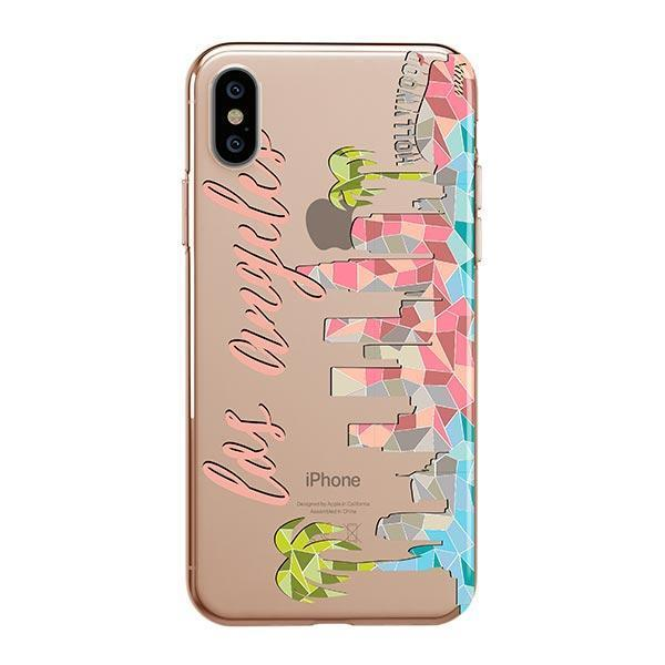 6f35528a8b3f0 Geometric Los Angeles iPhone XS Case Clear