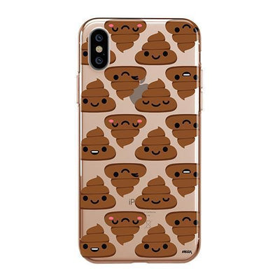Happy Poo iPhone XS Case Clear