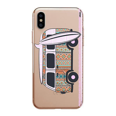 Hipster Van iPhone XS Case Clear