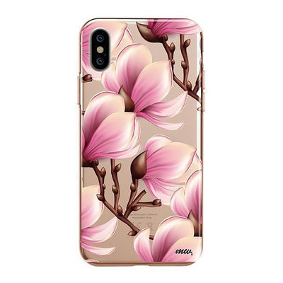 Magnolia iPhone XS Case Clear