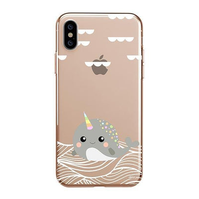 Narwhal - iPhone XS Case Clear