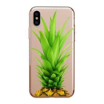 Pineapple Head iPhone XS Case Clear