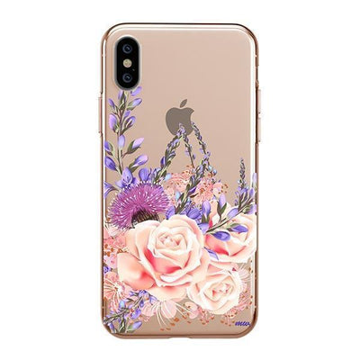 Purple Botanica iPhone XS Case Clear