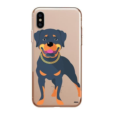 Rottweiler - iPhone XS Clear Case