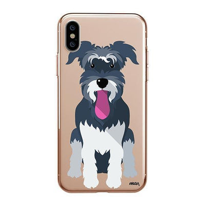 Schnauzer - iPhone XS Clear Case