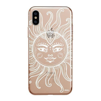 Henna Totemic Sun iPhone XS Case Clear