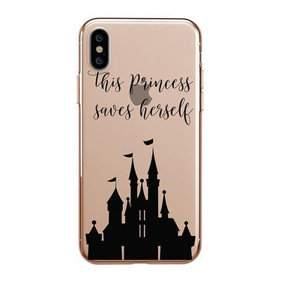 The Princess Saves Herself iPhone XS Case Clear