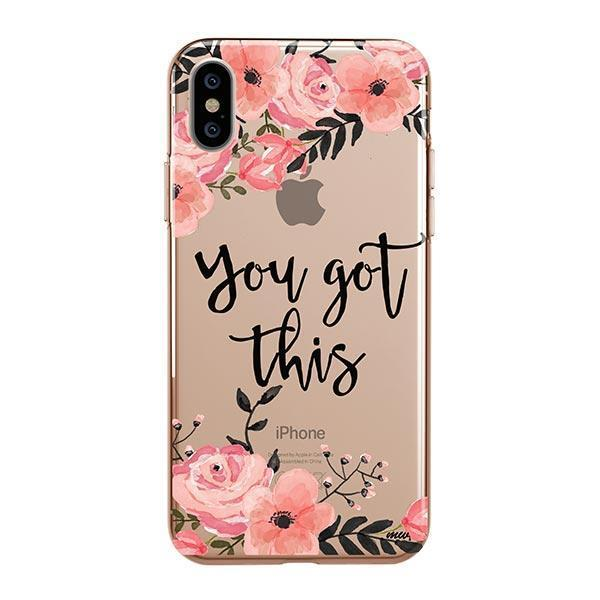 You Got This iPhone XS Case Clear