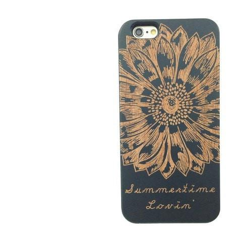 Black Bamboo Wood Case - Summertime Lovin' (Sunflower)