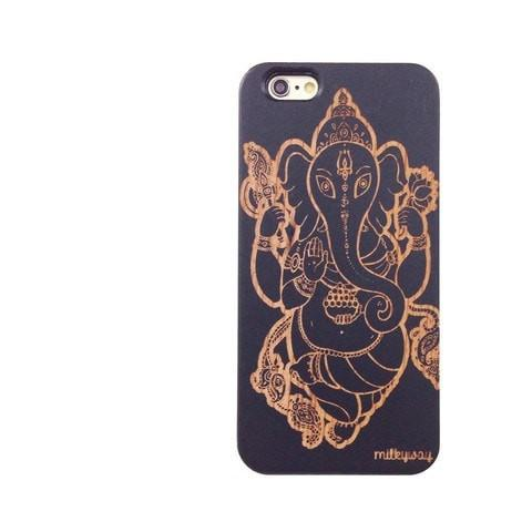 Black Bamboo Wood Case - Sri Maha Ganapati Ganesh