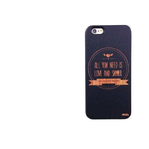 Black Bamboo Wood Case - All You Need is Love and Summer