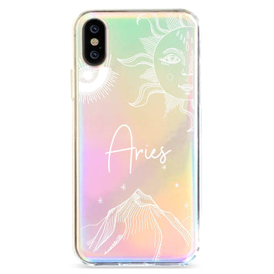 Zodiac Aries - Holographic iPhone Case