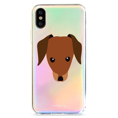 Dachshund - Holographic iPhone Case
