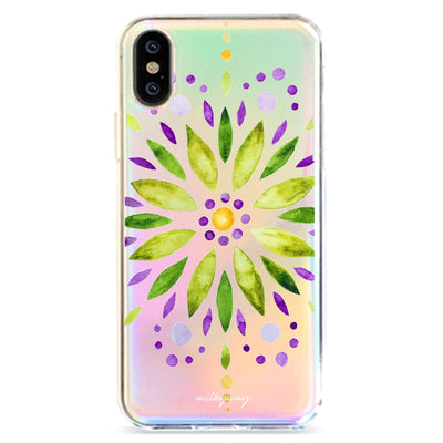 Garden Mandala - Holographic iPhone Case
